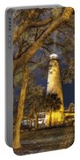 Night Lighthouse Portable Battery Charger by Debra and Dave Vanderlaan