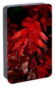 Night Of Glistening Red Salvia Portable Battery Charger