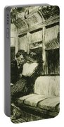 Night On The El Train Portable Battery Charger by Edward Hopper