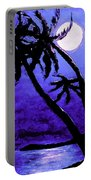 Night On The Islands Painterly Brushstrokes Portable Battery Charger