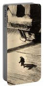 Night Shadows Portable Battery Charger by Edward Hopper