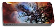 Night Sky Landscape Art By Sharon Cummings Portable Battery Charger