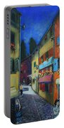 Night Street In Pula Portable Battery Charger