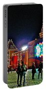 Night View Of Gum-former State Department Store-in Red Square In Moscow-russia Portable Battery Charger