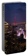 Night View Of New York Portable Battery Charger