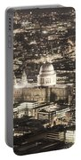 Night View Over St Pauls Portable Battery Charger