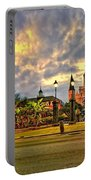 Nightfall On Jackson Square Portable Battery Charger