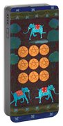 Nine Of Pentacles Portable Battery Charger