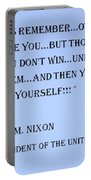Nixon Quote In Cyan Portable Battery Charger