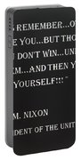Nixon Quote In Negative Portable Battery Charger