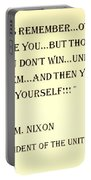 Nixon Quote In Sepia Portable Battery Charger