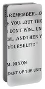 Nixon Quote  Portable Battery Charger