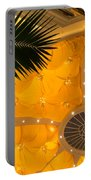 Sunshine Yellow Silk Decor With Stars Portable Battery Charger