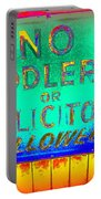 No Peddlers Or Solicitors Portable Battery Charger