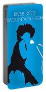 No019 My Tina Turner Minimal Music Poster Portable Battery Charger by Chungkong Art