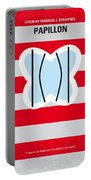 No098 My Papillon Minimal Movie Poster Portable Battery Charger