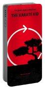 No125 My Karate Kid Minimal Movie Poster Portable Battery Charger by Chungkong Art