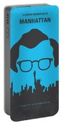 No146 My Manhattan Minimal Movie Poster Portable Battery Charger by Chungkong Art