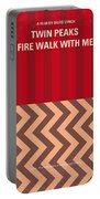 No169 My Fire Walk With Me Minimal Movie Poster Portable Battery Charger