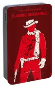 No184 My Django Unchained Minimal Movie Poster Portable Battery Charger