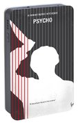 No185 My Psycho Minimal Movie Poster Portable Battery Charger
