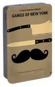 No195 My Gangs Of New York Minimal Movie Poster Portable Battery Charger