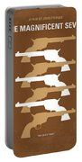No197 My The Magnificent Seven Minimal Movie Poster Portable Battery Charger by Chungkong Art