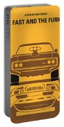 No207 My The Fast And The Furious Minimal Movie Poster Portable Battery Charger by Chungkong Art