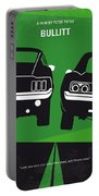 No214 My Bullitt Minimal Movie Poster Portable Battery Charger by Chungkong Art