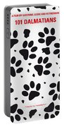 No229 My 101 Dalmatians Minimal Movie Poster Portable Battery Charger