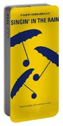 No254 My Singin In The Rain Minimal Movie Poster Portable Battery Charger by Chungkong Art