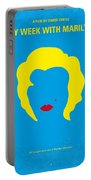 No284 My Week With Marilyn Minimal Movie Poster Portable Battery Charger
