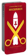 No317 My Macgruber Minimal Movie Poster Portable Battery Charger