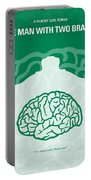 No390 My The Man With Two Brains Minimal Movie Poster Portable Battery Charger