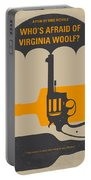 No426 My Whos Afraid Of Virginia Woolf Minimal Movie Poster Portable Battery Charger