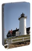 Nobska Lighthouse On Cape Cod At Woods Hole Massachusetts Portable Battery Charger