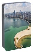 North Avenue Beach Chicago Aerial Portable Battery Charger