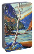 North West Lake By Prankearts Portable Battery Charger