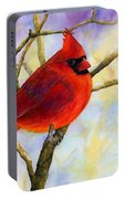 Northern Cardinal Portable Battery Charger
