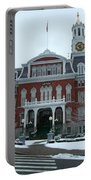 Norwich City Hall In Winter Portable Battery Charger