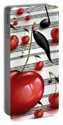 Notes Of Fruits Portable Battery Charger