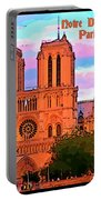 Notre Dame Cathedral Poster Portable Battery Charger