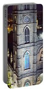 Notre Dame De Montreal At Night Portable Battery Charger