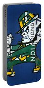 Notre Dame Fighting Irish Leprechaun Vintage Indiana License Plate Art  Portable Battery Charger by Design Turnpike