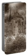 Notre Dame From East Garden Portable Battery Charger