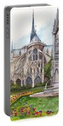 Notre Dame Paris In Spring Portable Battery Charger