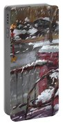 First Snowfall Nov 17 2014 Portable Battery Charger