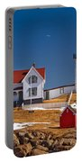 Nubble Lighthouse 3 Portable Battery Charger by Joann Vitali