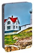 Nubble Lighthouse Cape Neddick Maine 2 Portable Battery Charger