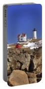 Nubble's Rocky Coastline Portable Battery Charger by Joann Vitali
